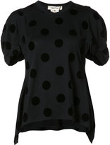 Comme des Garcons polka dots pointy T-shirt - women - Wool - M