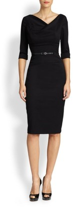Black Halo Jackie O Three-Quarter Sleeve Dress
