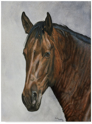 "Rusty Trademark Fine Art Frentner 'Horse' Canvas Art, 47""x35"""