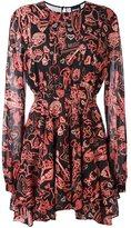 Just Cavalli multi-print flared dress - women - Silk/Polyester/Spandex/Elastane - 38