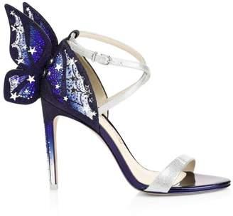 Sophia Webster Chiara Shimmer Butterfly Wing Embellished High Heel Sandals