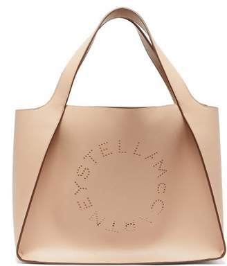 Stella McCartney Perforated-logo Faux-leather Tote Bag - Womens - Dusty Pink