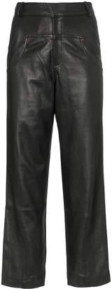 Markoo The draped pocket trousers
