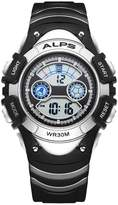 ALPS Kids Boys Girls MultiFunction Digital LED Waterproof Sport Watch