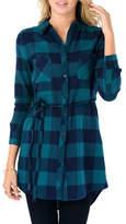 Minx Green Flannel Dress