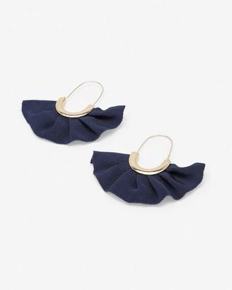 Express Ruffle Fabric Drop Earrings