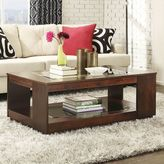 HomeVance Myrna Glass Coffee Table