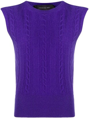 FEDERICA TOSI Sleeveless Roll-Neck Jumper