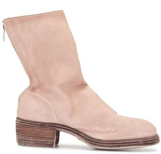 Guidi Suede Zip-Up Ankle Boots
