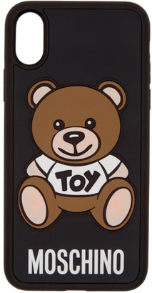 Moschino Black Toy Bear iPhone X Case