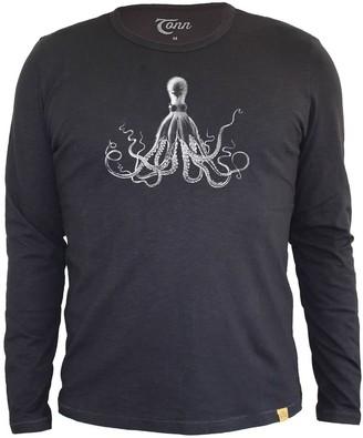 Tonn Octopus Long Sleeve Tee In Black