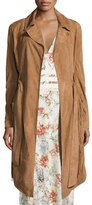 Haute Hippie Born in the Fire Fringed Suede Long Jacket