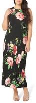 Evans Plus Size Women's Floral Maxi Dress