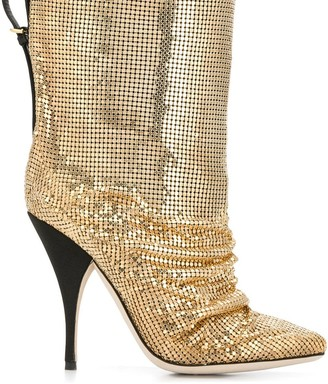 Marco De Vincenzo Metal Embellished Boots