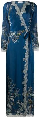 Carine Gilson Floral Silk Robe