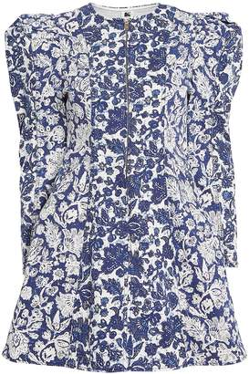 Ulla Johnson Wren Floral Denim Mini Dress