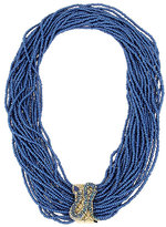 Betsey Johnson Betsey Blues Seed Bead Necklace