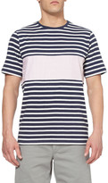 Band Of Outsiders Contrast Striped Cotton T-Shirt