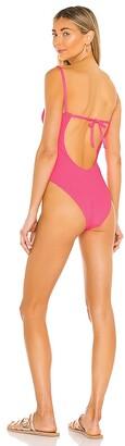 Frankie's Bikinis Marie Ribbed One Piece