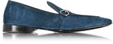 Cesare Paciotti Blue Suede Loafer Shoe