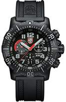 Luminox Authorized for Navy Use (A.N.U.) Chronograph Men's Quartz watch with Black dial featuring LLT light Technology 45 millimeters Stainless Steel case and Black PU Strap XS.4241.NV