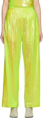 MM6 MAISON MARGIELA Yellow Sequin Flare Lounge Pants