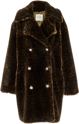 FAZ NOT FUR Cold Soldier Faux Fur Double-Breasted Coat