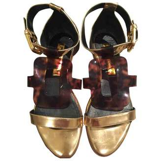 Rupert Sanderson Gold Leather Sandals