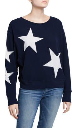 Sweet Romeo Jumbo Star Dolman-Sleeve Sweater