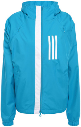 adidas Striped Shell Hooded Track Jacket