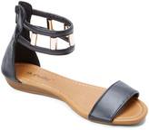 Star Bay Women's Sandals Black - Black Dual-Strap Sandal - Women