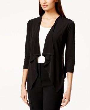 Connected Three-Quarter-Sleeve Ruffle Jacket