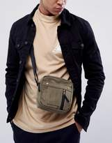 Asos Flight Bag In Bomber Styling In Khaki