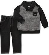 Calvin Klein 2-Pc. Sweater & Jeans Set, Baby Boys (0-24 months)