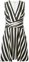 MSGM striped flared dress - women - Cotton/Polyester/Viscose - 42