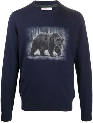 Sun 68 Bear-Print Sweater