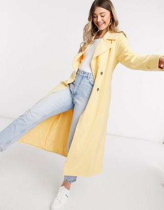 Y.A.S trench coat in yellow