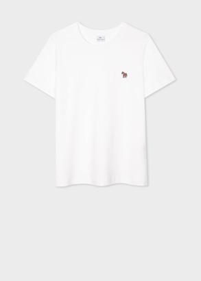 Paul Smith Women's White Zebra Logo Organic Cotton T-Shirt