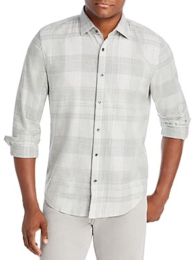 The Men's Store at Bloomingdale's Cotton Plaid Classic Fit Button Down Shirt - 100% Exclusive