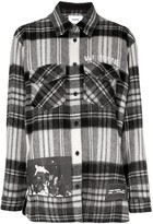 we11done printed check-flannel shirt