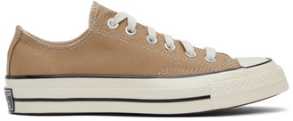 Converse Tan Chuck 70 OX Sneakers