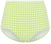 Solid & Striped Exclusive to Mytheresa The Brigitte gingham bikini bottoms