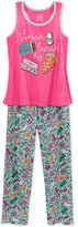 Max & Olivia 2-Pc. Sleepover Survival Kit Pajama Set, Little Girls (2-6X), Big Girls (7-16), Created for Macy's