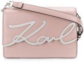 Karl Lagerfeld metal signature cross-body bag