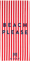 Milly Beach Please Striped Beach Towel in Red.