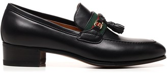 Gucci Web And Interlocking G Loafers