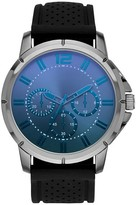 Mossimo Men's Oversized Watch in Black with Laser Crystal and Decorative Subdials
