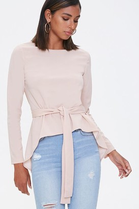 Forever 21 High-Low Tie-Waist Top