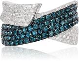 Effy Jewelry Effy Bella Bleu 14K White Gold Blue and White Diamond Ring, 1.36 TCW