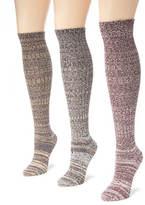 Muk Luks 3 Pair Marl Knee High Socks
